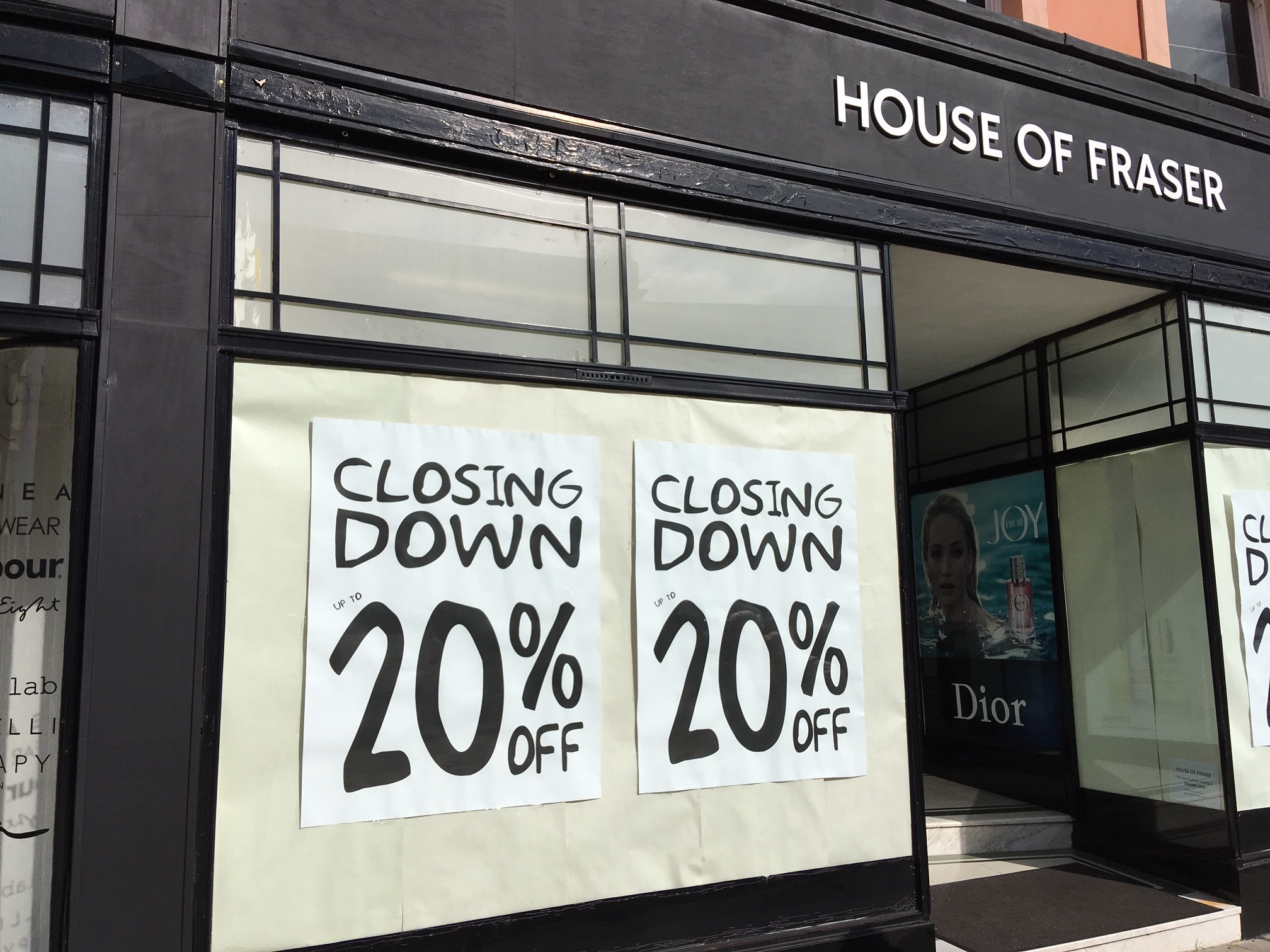 Does the closure of House Of Fraser spell the end of the shared space 'experiment'