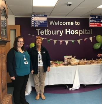 Tetbury Hospital staff - Lucy Cook and Val Meredith
