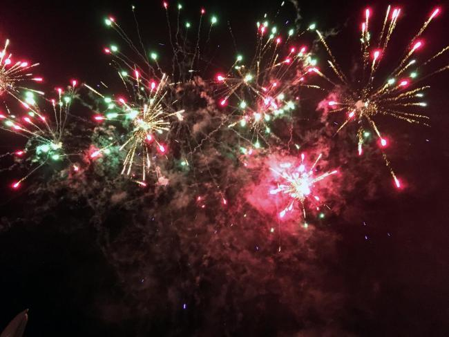 Cirencester roundtable fireworks in 2015