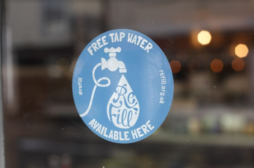 Cafe's, pubs, restaurants and other businesses around the town that sign up will have a sticker in the window like this