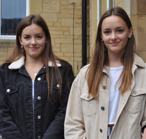 Cotswold School pupils on GCSE results day