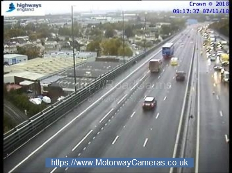 There are delays on the M5 Southbound