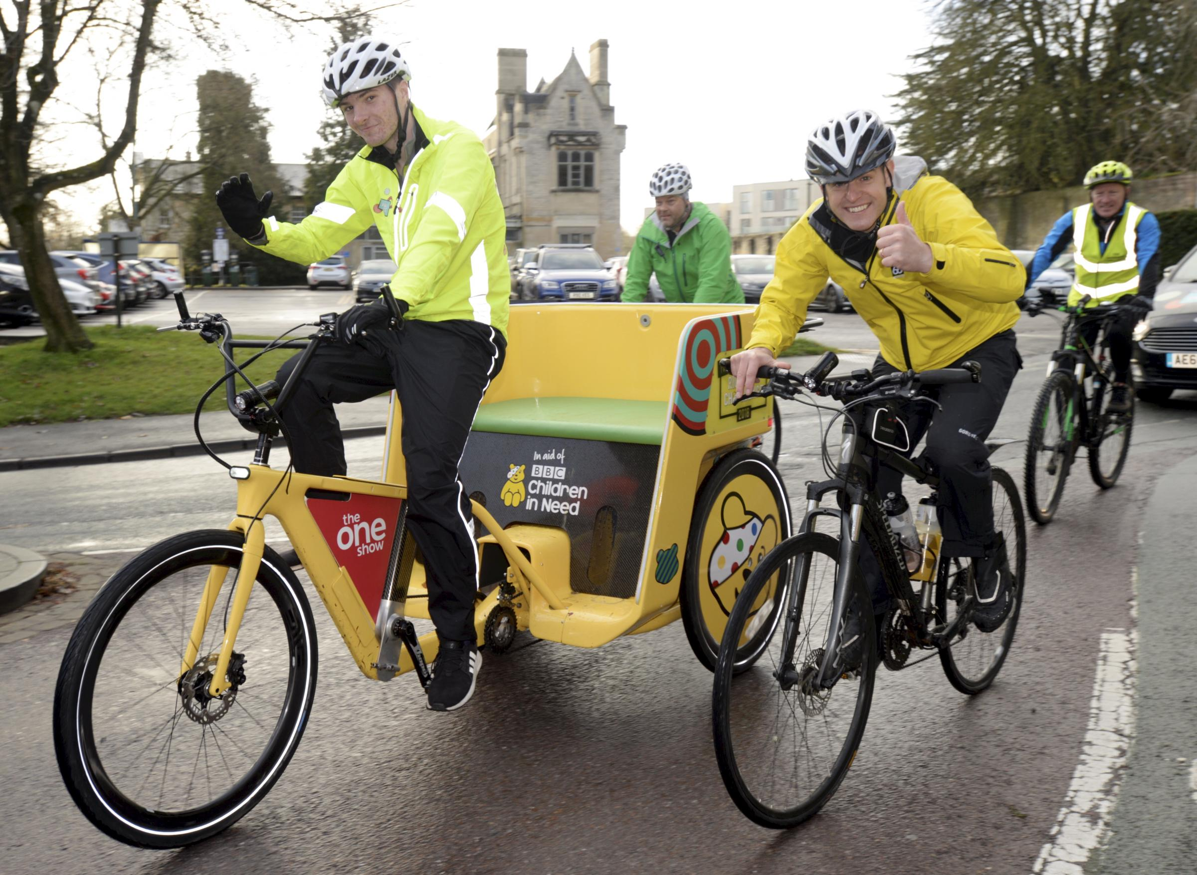 Photos from Team Rickshaw's pit stop in Cirencester this morning