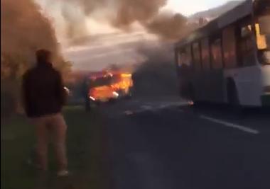 Children tell of school bus fire drama