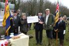 Members of the The Royal British Legion receiving the £2000 cheque. Picture: TTL Videos