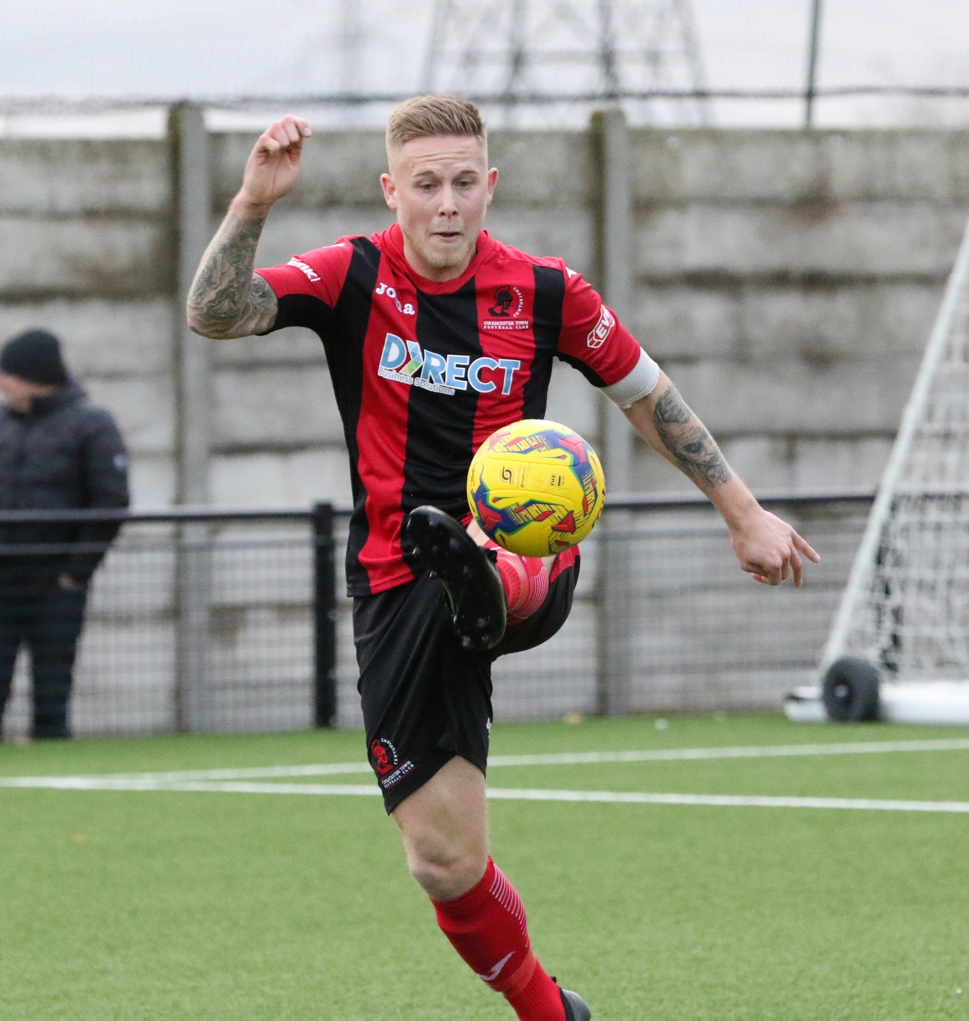 Aidan Bennett scored his 50th senior goal for Cirencester. Picture: Steve Rolfe