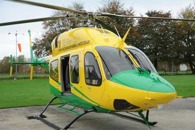 Wiltshire Air Ambulance has been grounded after the company operating it went bust