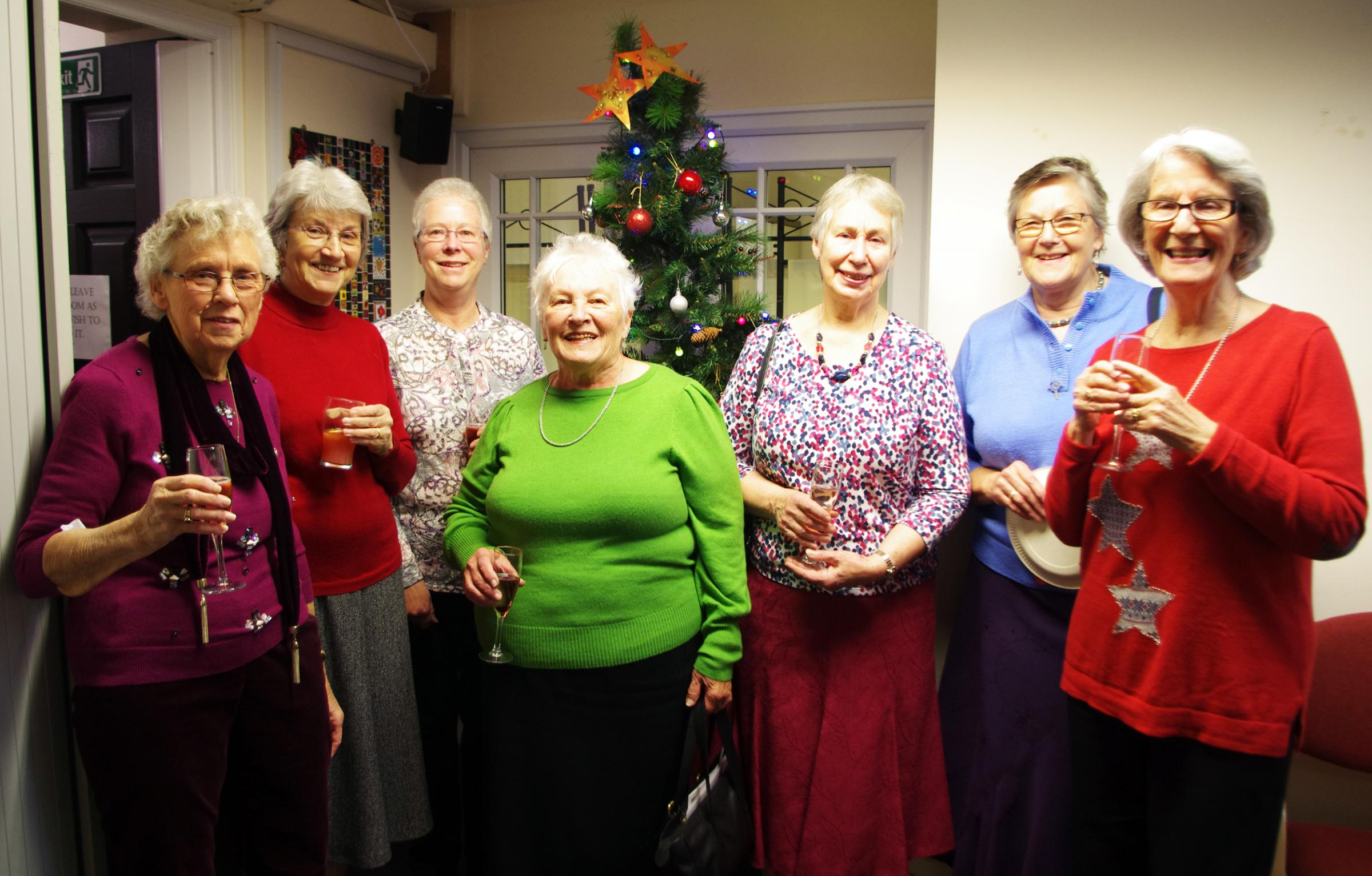 Members of Cirencester Mothers' Union who volunteer regularly at The Churn Project