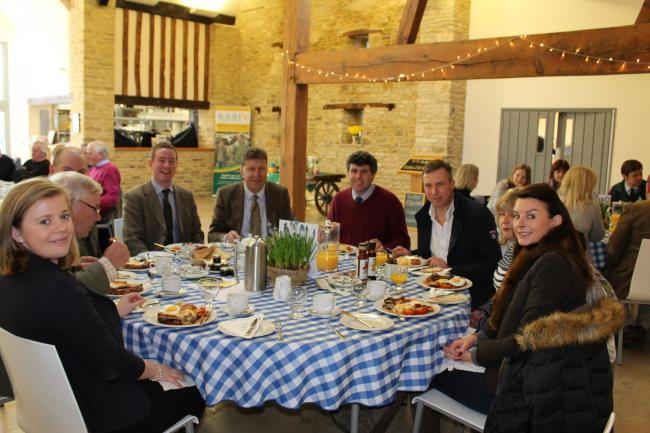 Guests at a previous farmhouse breakfast event in Malmesbury