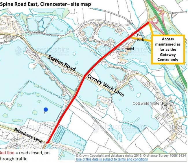Road closure delayed in South Cerney