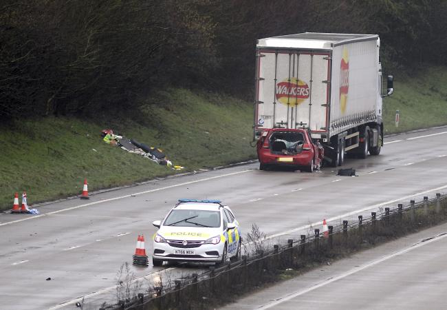 The driver hurt in a crash on the A419 is in a stable condition in hospital