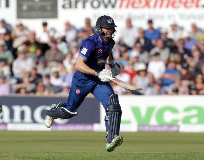 Gloucestershire's Michael Klinger smiles as he runs back to his crease to make his century during the Royal London One Day Cup, Semi Final at Headingley Carnegie Cricket Ground, Leeds. PRESS ASSOCIATION Photo. Picture date: Sunday September 6, 2015. S