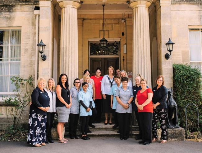Staff at Watermoor House in Cirencester