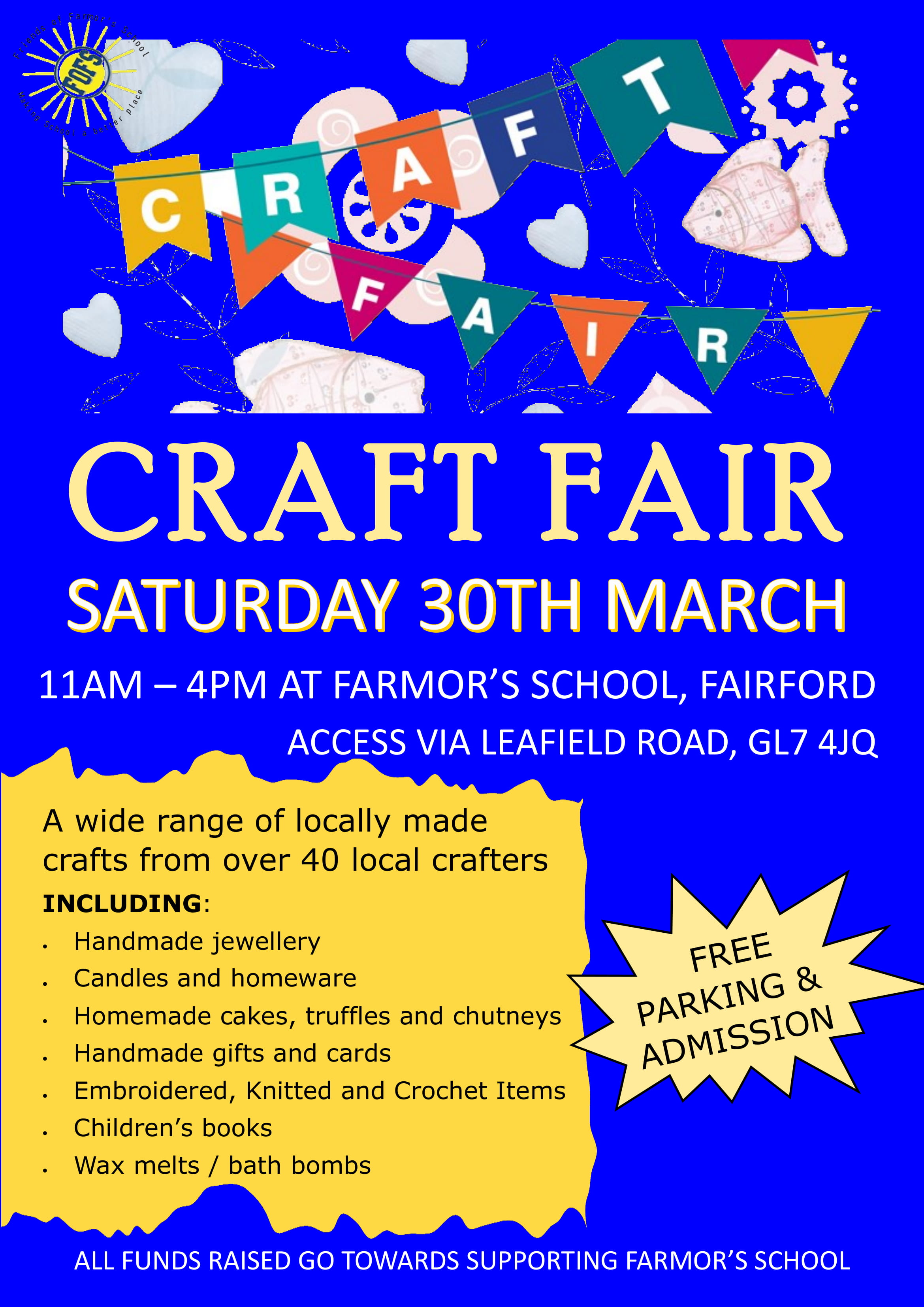 Craft Fair - Farmor's School, Fairford