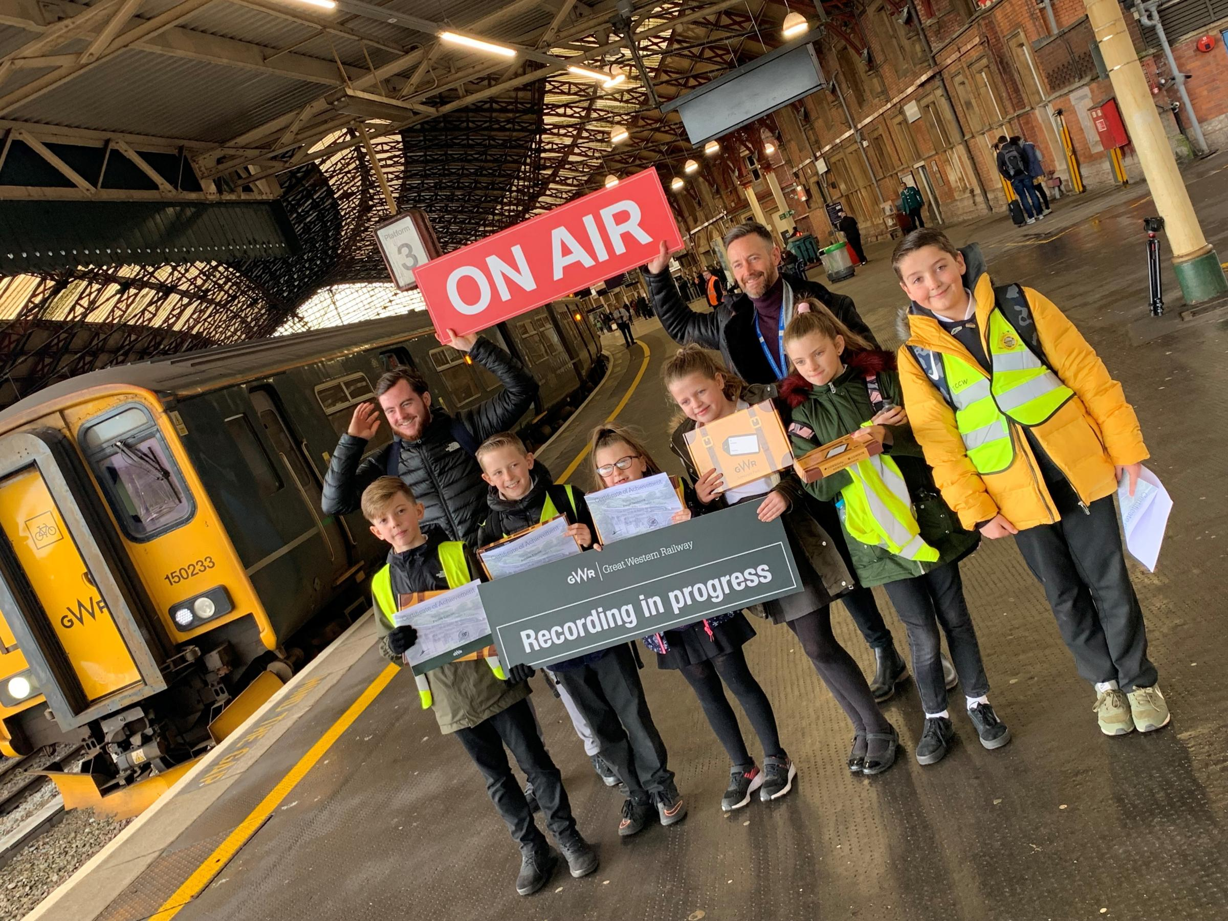 Year 5 and 6 pupils have recorded new safety announcements