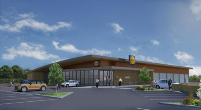 How the Lidl store would look if planning permission was granted