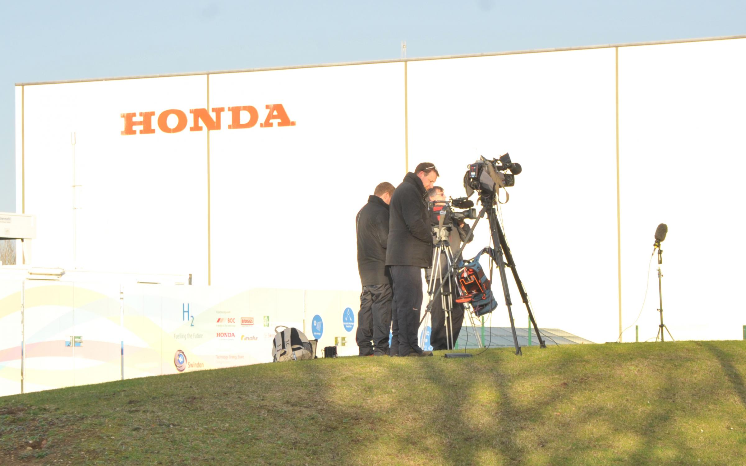 Honda annouced closure of its plant in 3 years time..Pic - gv.Date 18/2/19.Pic by Dave Cox.