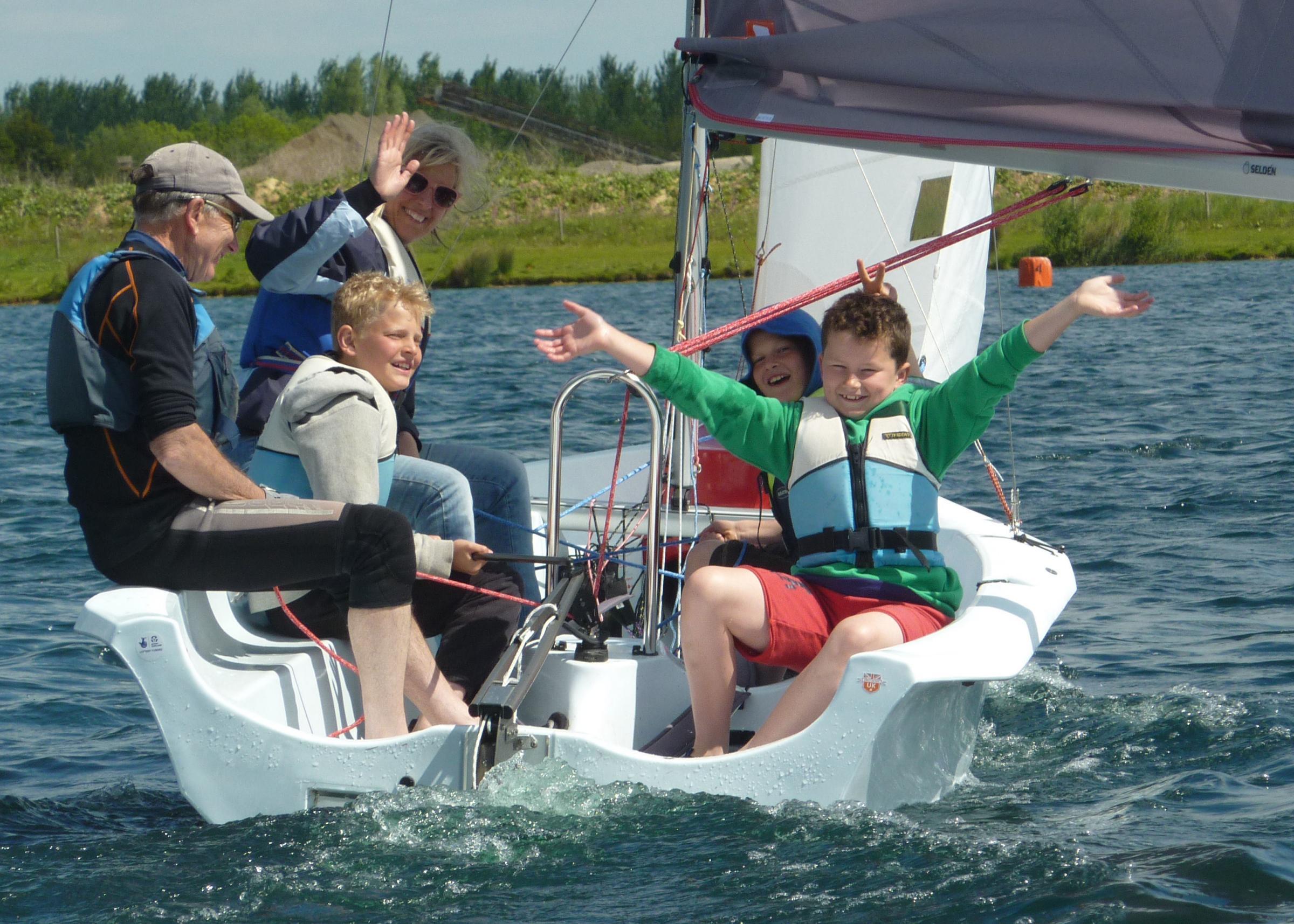 Dinghy Sailing at Bowmoor Sailing Club