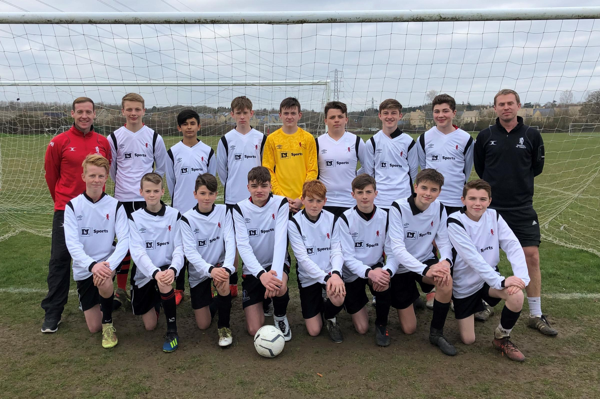 Kingshill School Year nine football squad