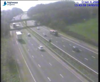 Lorry changing tyre closes lane on M5
