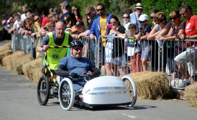 A competitor at the 2018 Tetbury Lions Club Wacky Races Soapbox Derby. Photo Paul Nicholls