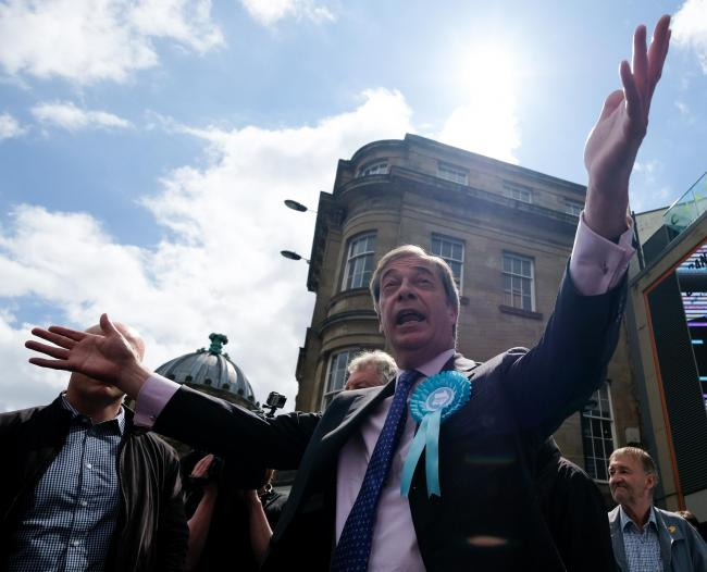 Nigel Farage's new party won the most votes in Stroud. Photo: Ian Forsyth/Getty Images