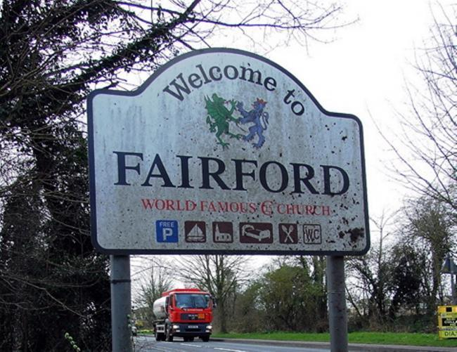 Four men were arrested in Fairford yesterday morning