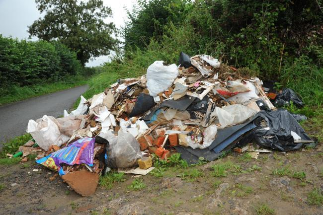 The map highlights the fly tipping hotspots in the Cotswolds