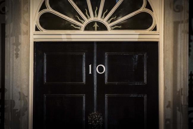 The front door of 10 Downing Street