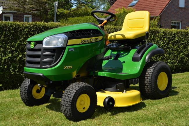 A John Deere lawnmower, similar to the one pictured above, was stolen by thieves