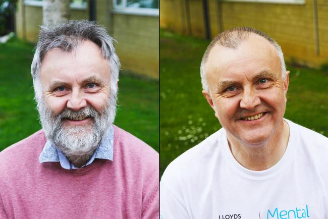 Design Lecturer Ken Jones before and after the shave