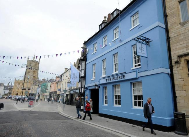 The Fleece Hotel on Market Place in Cirencester